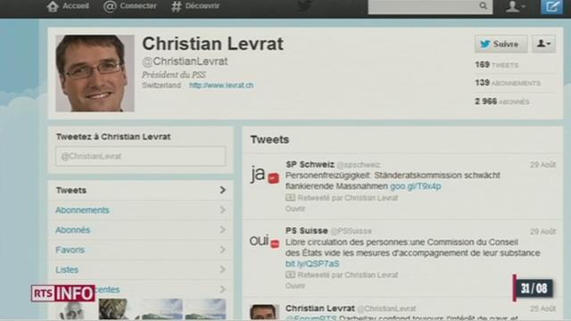Les politiciens suisses investissent toujours plus le réseau social Twitter