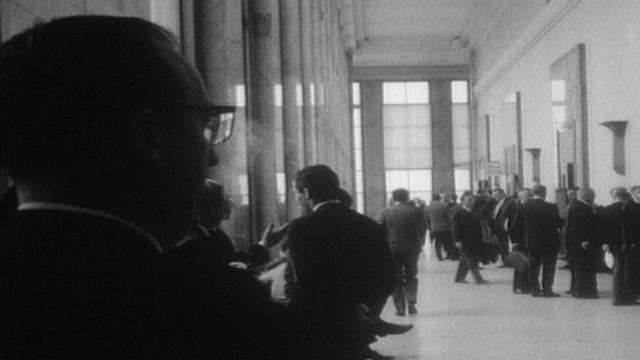 Couloirs de l'ONU en 1959. [RTS]