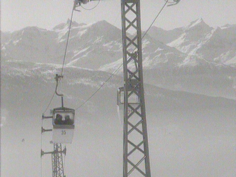 Inauguration du télécabine Les Violettes à Montana en Valais