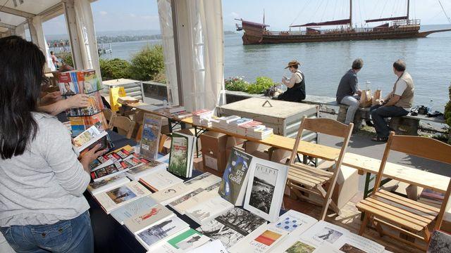 """La manifestation """"Livre sur les Quais"""" a attiré plus de 40'000 visiteurs. [Laurent Gillieron - Keystone]"""