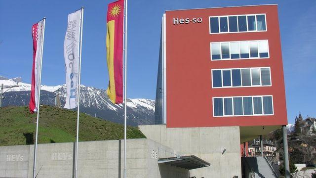 Le bâtiment de la Hes-SO Valais à Sierre.