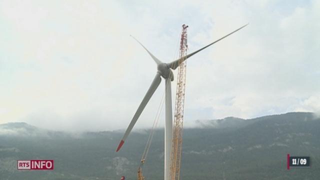 En Valais, l'éolienne de Charrat est officiellement inaugurée ce mardi matin