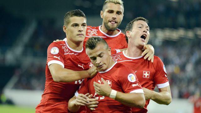 Shaqiri a montré la voie à suivre pour les Suisses grâce à son but. [Walter Bieri - Keystone]