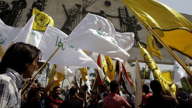 Manifestations en Irak dans le cadre de la protestation contre le film anti-islam. [Ali Al Saadi - AFP]