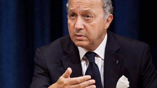 """Laurent Fabius a estimé qu'il n'était pas """"intelligent"""" de """"mettre de l'huile sur le feu"""". [Andrew Burton - Getty Images/AFP]"""