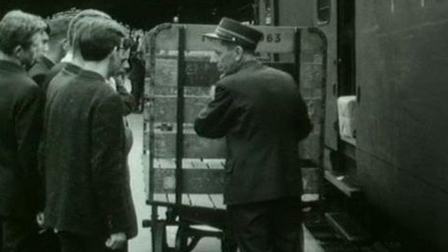 Le trafic postal en 1963. [RTS]