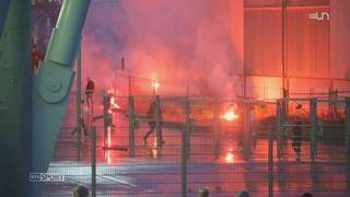 Football : le derby entre Servette et Lausanne a mobilisé plus de 150 personnes, entre policiers, stadiers, agents de sécurité, samaritains et sapeurs pompiers