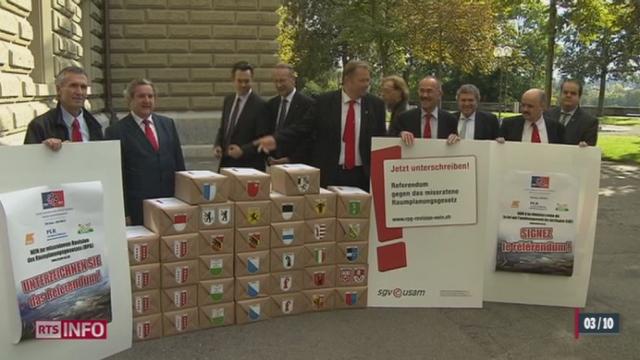 Les Suisses voteront sur la révision de la loi sur l'aménagement du territoire