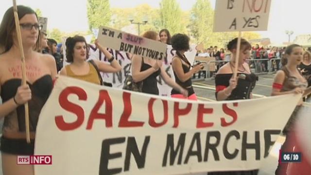 La première marche des salopes de Suisse a eu lieu samedi à Genève