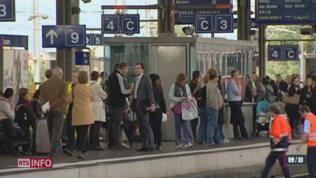 50 000 voyageurs prennent actuellement le train chaque jour entre lausanne et Genève, ils seront 100 000 à l'horizon 2030