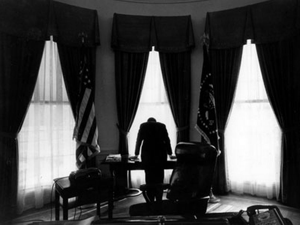 John F. Kennedy à la Maison blanche.  [Keystone]
