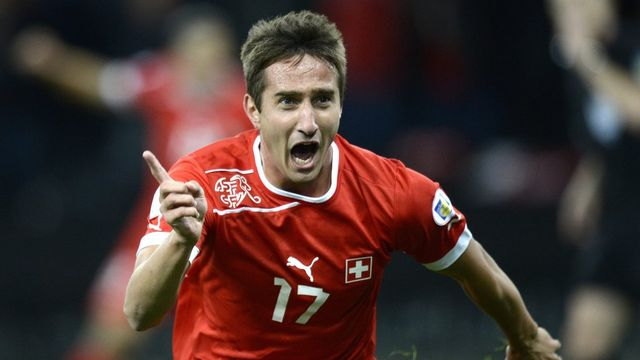 Peu après son entrée en jeu, Mario Gavranovic avait mis la Suisse sur les bons rails. [LAURENT GILLIERON - Keystone]