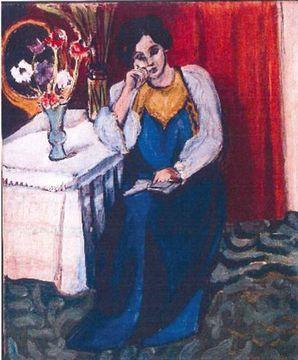 """""""La Liseuse en Blanc et Jaune"""" de Henri Matisse. [Police Rotterdam]"""