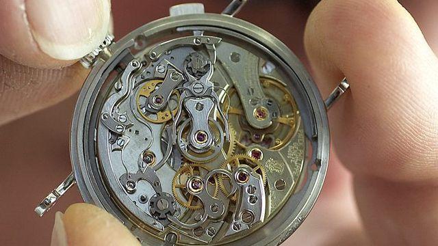 L'horlogerie montre ses premiers signes de faiblesse depuis longtemps. [Sandro Campardo - Keystone]