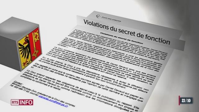 GE: à la Cour des comptes, le juge Daniel Devaud affirme avoir été agressé par son collègue Stéphane Geiger