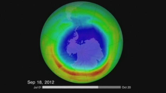 Le trou d'ozone au-dessus de l'Antarctique a rétréci