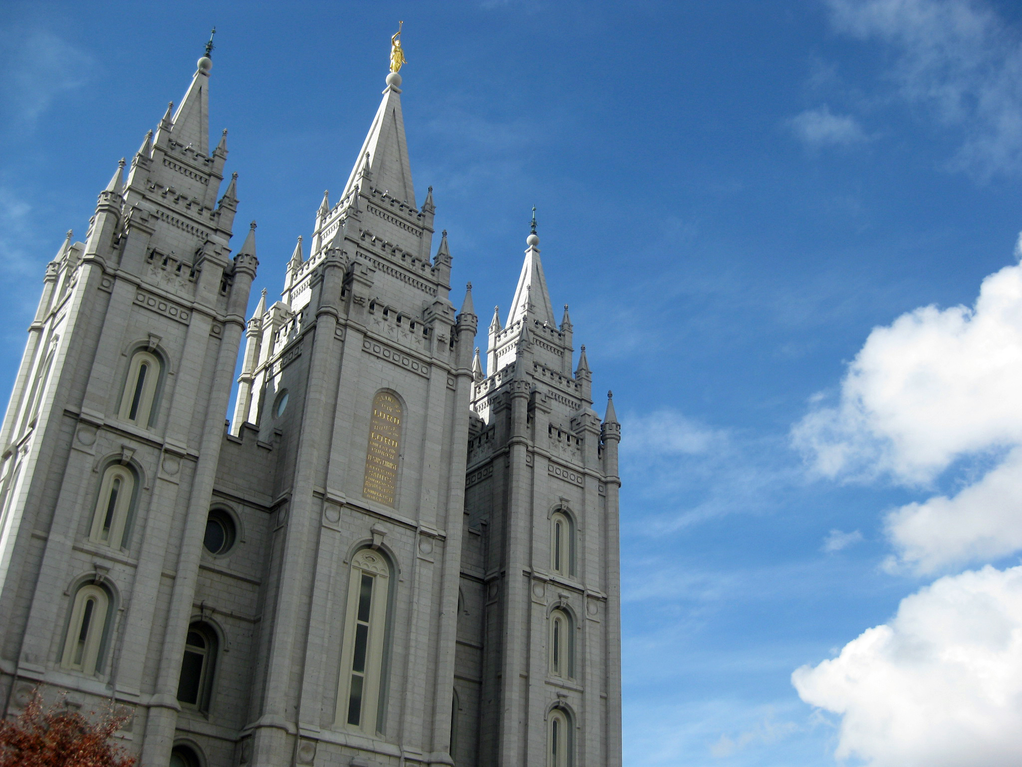 Le temple mormon de Salt Lake City.