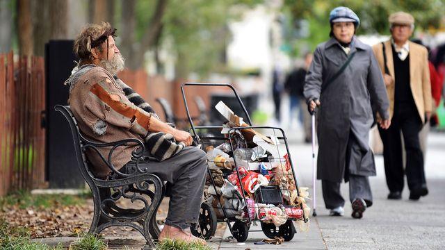 La pauvreté existe aussi à Washington. [Jewel Samad - AFP]