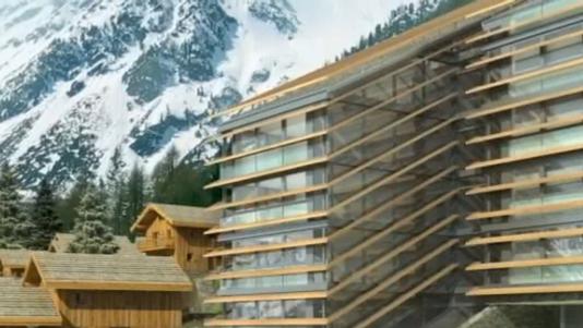Un important projet h telier au point mort en valais rts for Hotel design valais