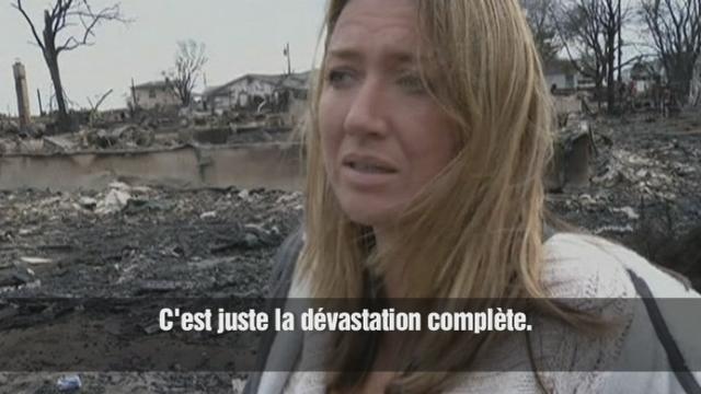 Des Américains découvrent leur maison après Sandy