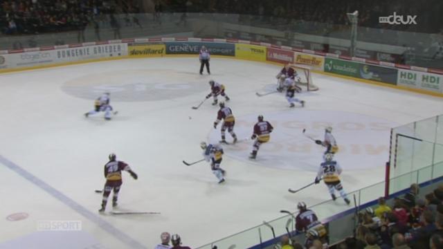 Hockey / Championnat de Suisse de LNA (21e j.): Genève-Servette - Berne (5-2) + itw. Goran Bezina (défenseur Genève-Servette)