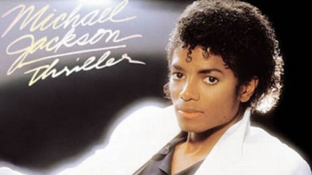"""Pochette originale de l'album """"Thriller""""."""