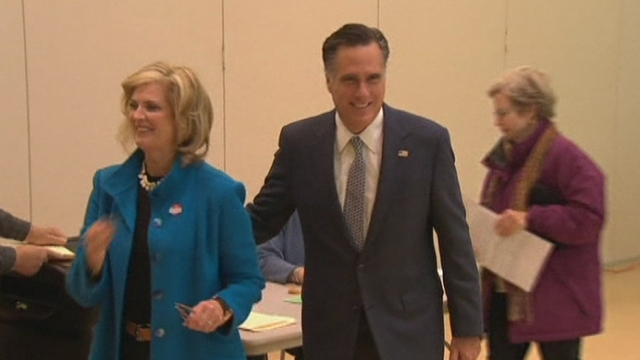 Séquences choisies - Mitt et Ann Romney aux urnes