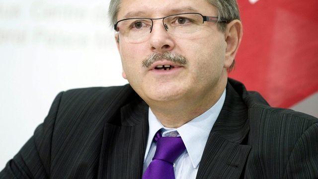 Charles Juillard, ministre jurassien PDC, chef du département des Finances, de la Justice et de la Police. [Marcel Bieri - Keystone]