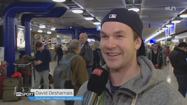 """Hockey sur glace / Championnat de LNA : rencontre avec David Desharnais et Logan Couture, deux joueurs de NHL venus jouer en Suisse durant le """"lock-out"""""""