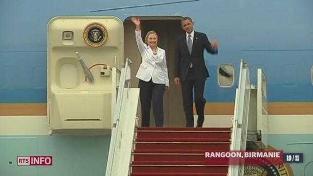 Barack Obama est le premier président américain en exercice à se rendre à Rangoon (Birmanie)