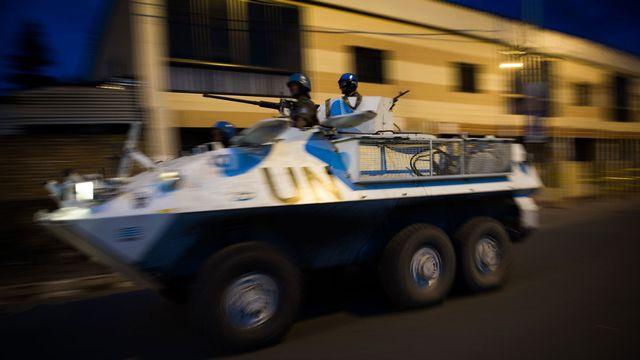 Les Casques bleus de l'ONU patrouillent dans Goma pour assurer leur mission de protection des civils. [Phil Moore - AFP]