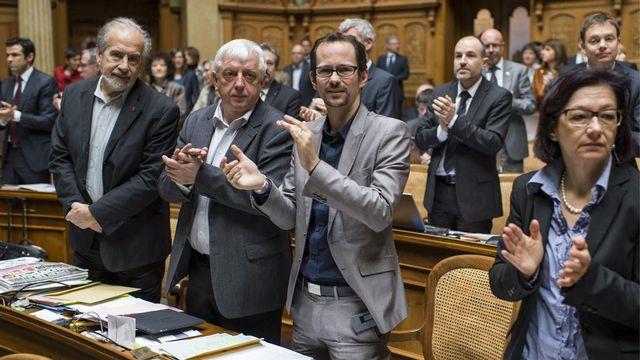 Tous, au Parlement, n'ont pas applaudi l'élection d'Ueli Maurer. [Alessandro della Valle - Keystone]