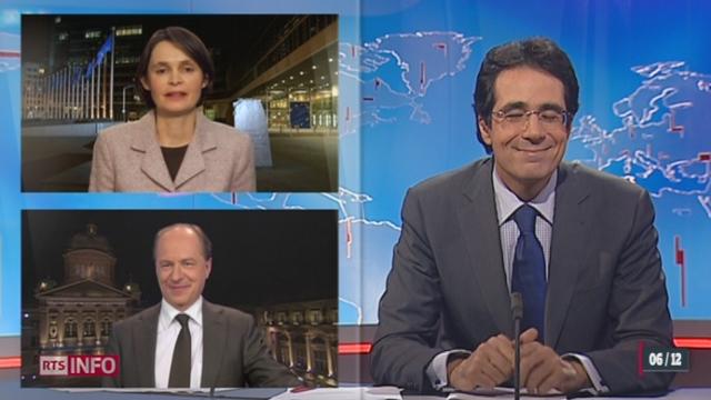 Non à l'EEE: le point avec Isabelle Ory, à Bruxelles (Belgique), et avec Alain Rebetez, à Berne
