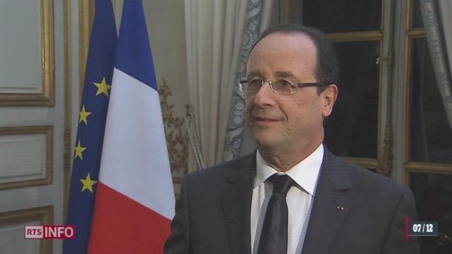 France: le président François Hollande a accordé une interview exceptionnelle à la RTS