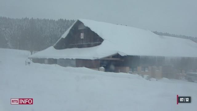 La neige est tombée en abondance sur toute la Suisse créant d'importantes perturbations