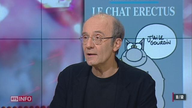 """L'invité culturel: Philippe Geluck sort un 17ème album de son chat bien connu, """"le Chat Erectus"""""""