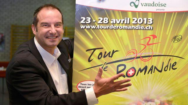 """Richard Chassot a présenté l'édition 2013 de """"son"""" Tour de Romandie 2013, taillé pour les grimpeurs. [Christian Brun - Keystone]"""