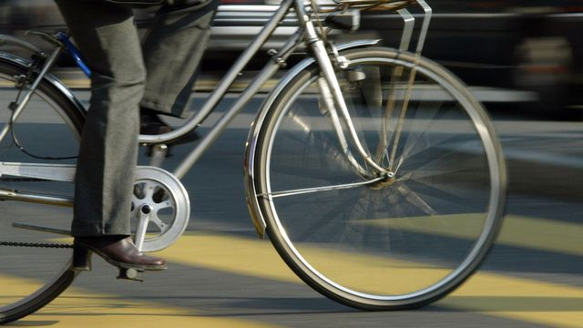 Le texte veut favoriser la mobilité douce en ville de Bienne. [Alessandro della Valle - Keystone]
