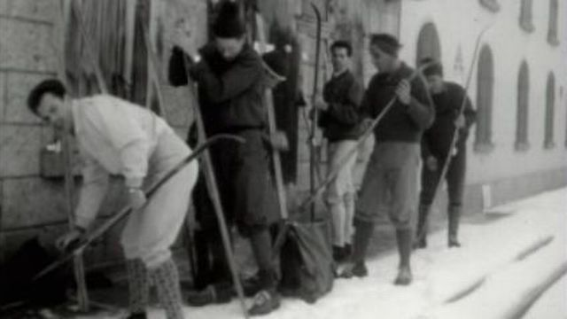 Skieurs Gletsch 1963 [TSR 1963]