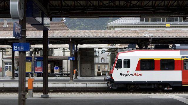 Le RER Valais/Wallis entrera officiellement en service le 9 décembre. [Jean-Christophe Bott - Keystone]
