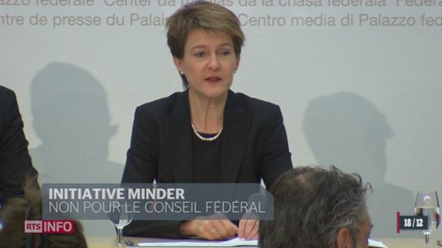 Initiative Minder: Le Conseil fédéral rejette le texte et propose un contre projet