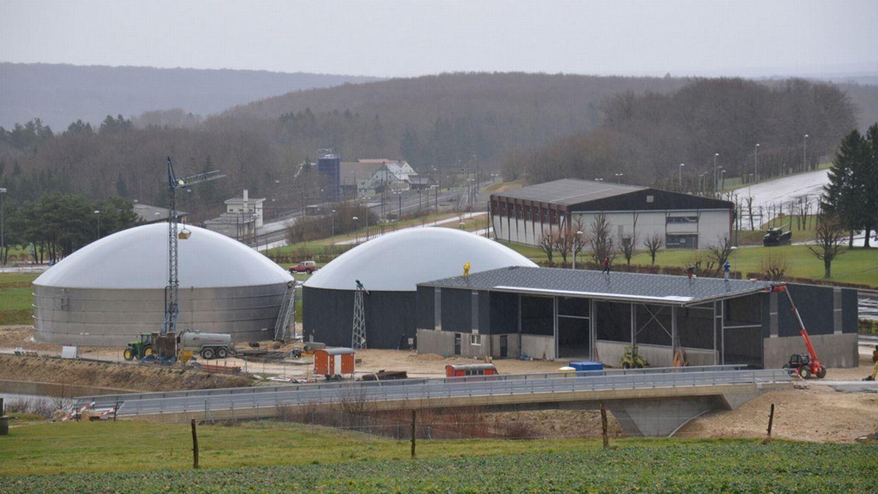 La centrale à biogaz de Bure, la plus grande du Jura. [Gaël Klein]