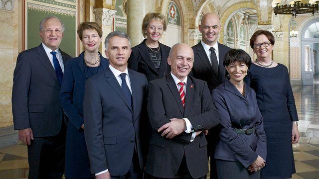 La photo 2013 du Conseil fédéral. [Ulrich Liechti - DDPS/Keystone]
