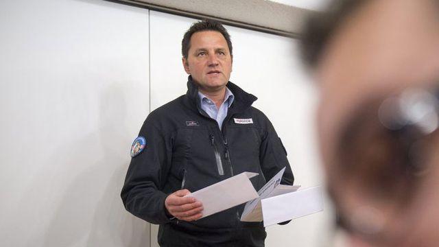 Jean-Marie Bornet, porte-parole de la Police cantonale valaisanne. [Olivier maire - Keystone]