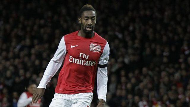 Johan Djourou avec le maillot d'Arsenal, une image devenue très rare ces derniers mois. [Matt Dunham - Keystone]