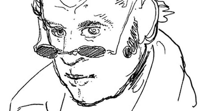 Rodolphe Töpffer - autoportrait. [Wikipédia]