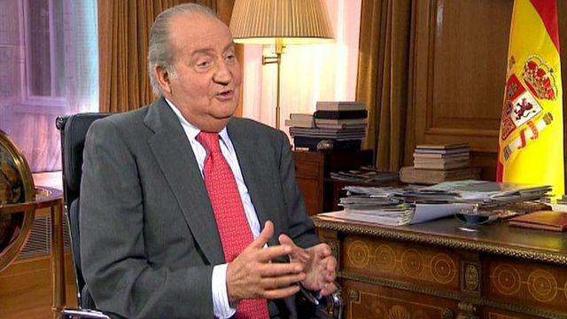 Le roi d'Espagne Juan Carlos a accordé son premier entretien télévisé depuis douze ans. [TVE/HANDOUT - Keystone]