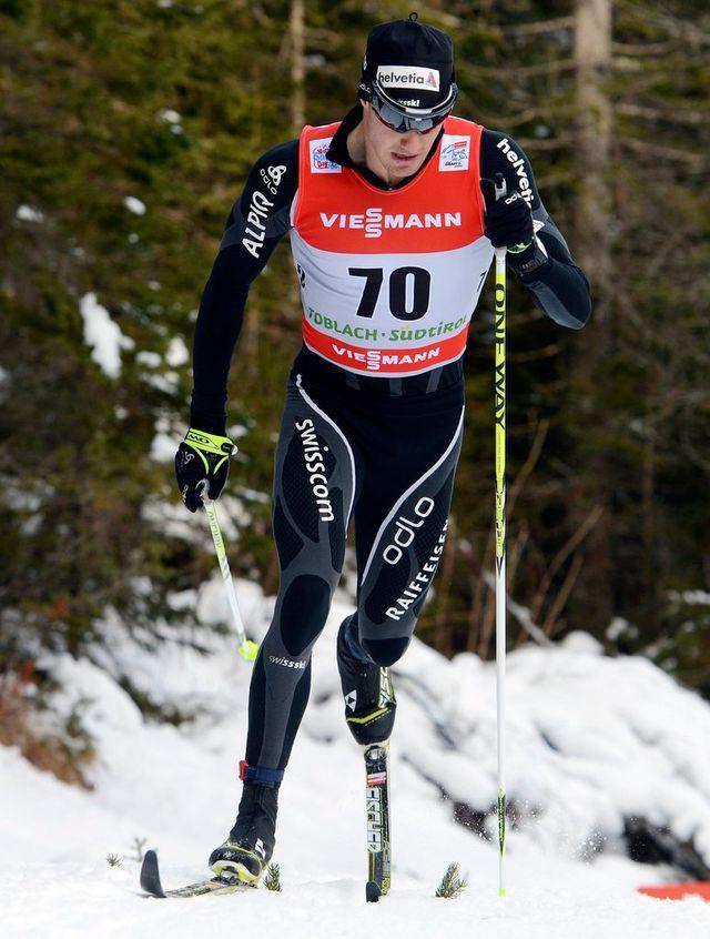 Comme l'an dernier, Cologna a pris la troisième place du 5 km classique. [Elvis Piazzi - Keystone]