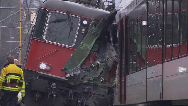 Collision entre deux trains près de Schaffhouse