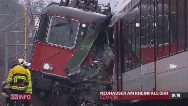 Schaffhouse: deux trains sont entrés en collision